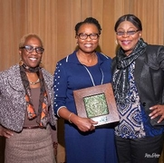 Dr. Ntiri with Juliet Machie and Susan Taylor